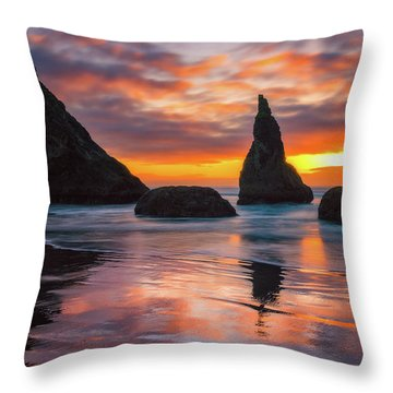 Throw Pillow featuring the photograph Late Night Cloud Dance by Darren White