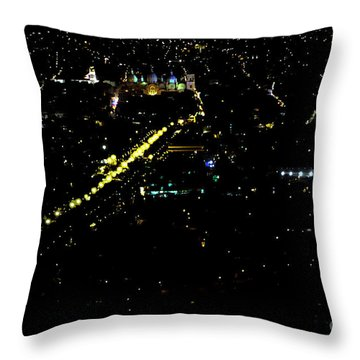 Throw Pillow featuring the photograph Late Night In Cuenca, Ecuador by Al Bourassa