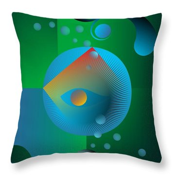 Late Night Prayer Throw Pillow by Leo Symon