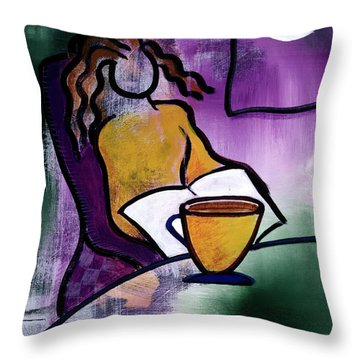 Late Night With Java Lady Throw Pillow
