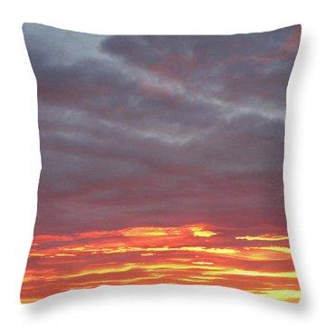 Late Prairie Sunrise Throw Pillow