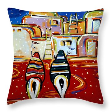Late Return First October Snow Throw Pillow
