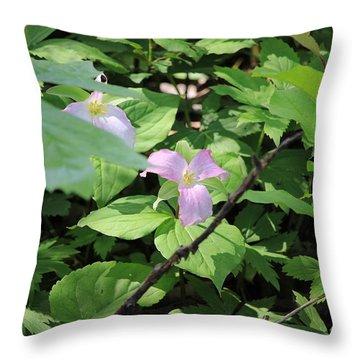 Late Season Trillium Throw Pillow