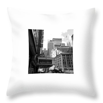 Late Show Nyc Throw Pillow