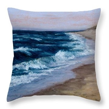 Late Spring At Cold Storage Beach Throw Pillow by Jack Skinner
