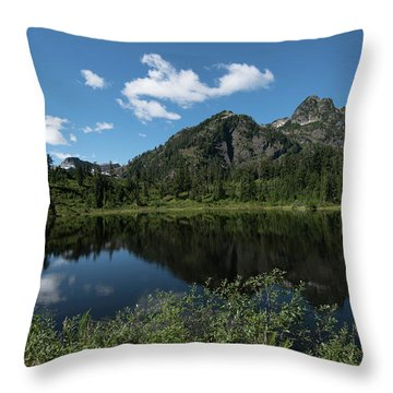 Late Spring Peaks Throw Pillow