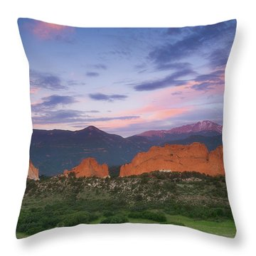 Throw Pillow featuring the photograph Late Spring Sunrise by Tim Reaves