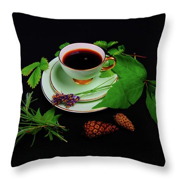 Late Summer Coffee Throw Pillow