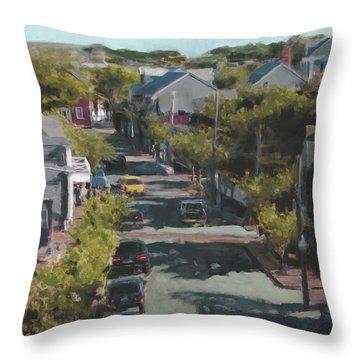 Late Summer Nantucket Throw Pillow