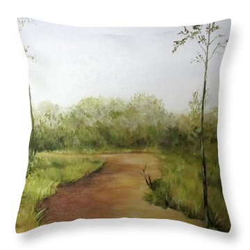 Late Summer Walk Throw Pillow