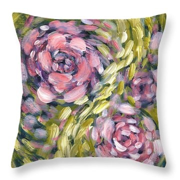 Throw Pillow featuring the digital art Late Summer Whirl by Holly Carmichael