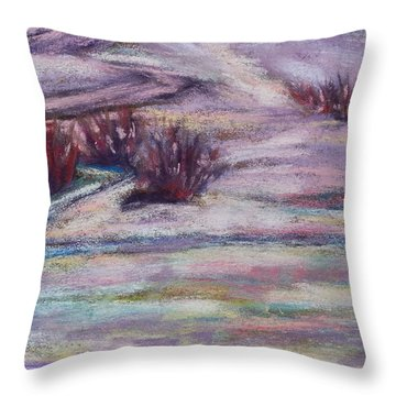 Late Winter Light Throw Pillow by Becky Chappell