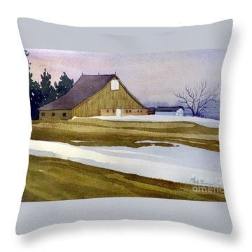 Late Winter Melt Throw Pillow by Donald Maier