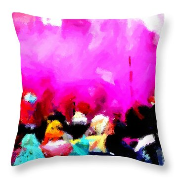 Lathmaar Holi Of Barsana-5 Throw Pillow