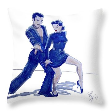 Latin Ballroom Throw Pillow