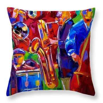 Latin Music Throw Pillow by Debra Hurd