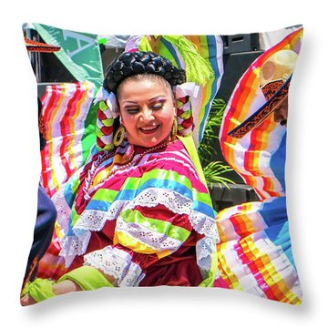 Latino Street Festival Dancers Throw Pillow
