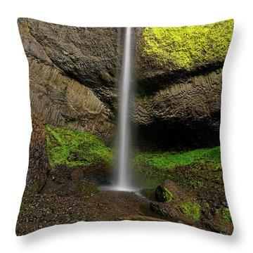 Throw Pillow featuring the photograph Latourell Falls by Jonathan Davison