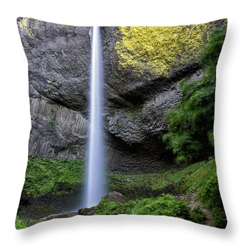 Latourell Water Fall Oregon Dsc05430 Throw Pillow