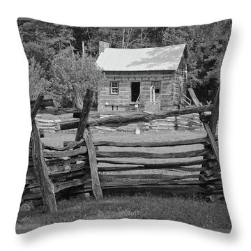 Latta Plantation Cabin Throw Pillow
