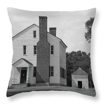 Latta Plantation House Throw Pillow