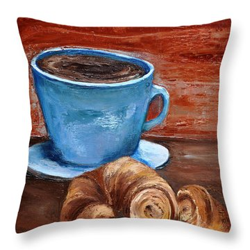 Latte Throw Pillow by Lindsay Frost