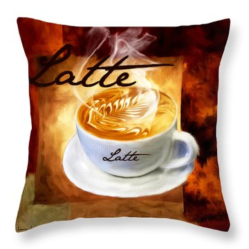 Latte Throw Pillow by Lourry Legarde