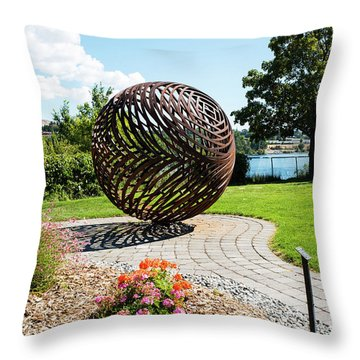 Latticed Iron Ball With Shadow Throw Pillow
