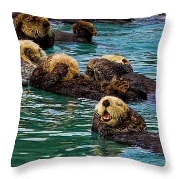 Laugh It Up Throw Pillow by David Wagner