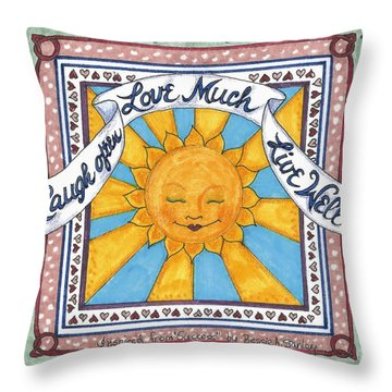Laugh Love Live Throw Pillow