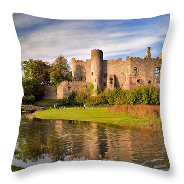 Laugharne Castle 1 Throw Pillow