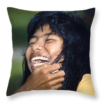 Throw Pillow featuring the photograph Laughing Out Loud by Heiko Koehrer-Wagner