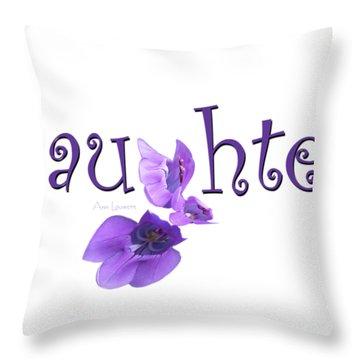 Laughter Shirt Throw Pillow