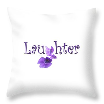Laughter Shirt Throw Pillow