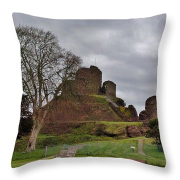 Launceston Castle Throw Pillow