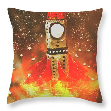 Launch Of Early Learning Throw Pillow by Jorgo Photography - Wall Art Gallery