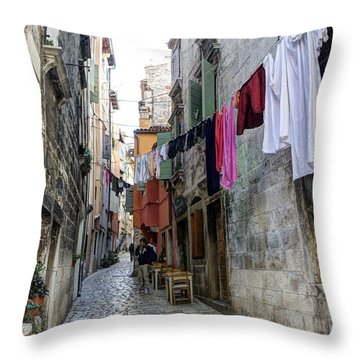 Laundry Day 1 Throw Pillow