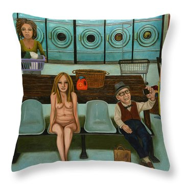 Laundry Day 7 Throw Pillow