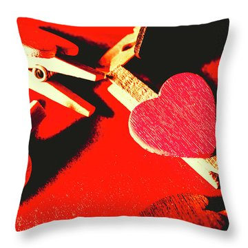 Laundry Love Throw Pillow