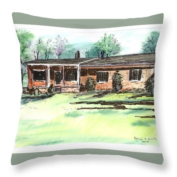Laura Anne's Place Throw Pillow
