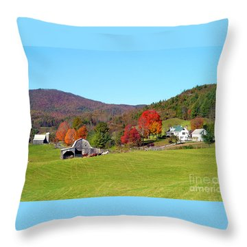 Laura's Farm Throw Pillow