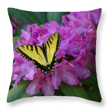 Laurel Bloom Butterfly Vertical Throw Pillow