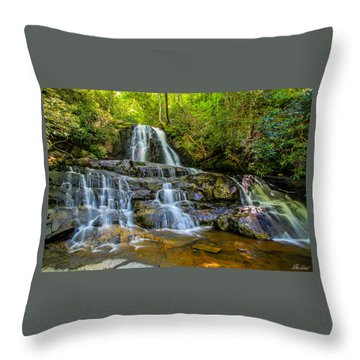 Laurel Falls Throw Pillow