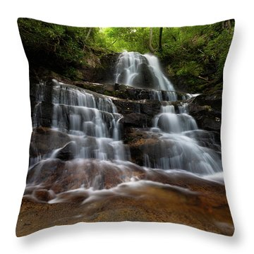 Laurel Falls Great Smoky Mountains Tennessee Throw Pillow