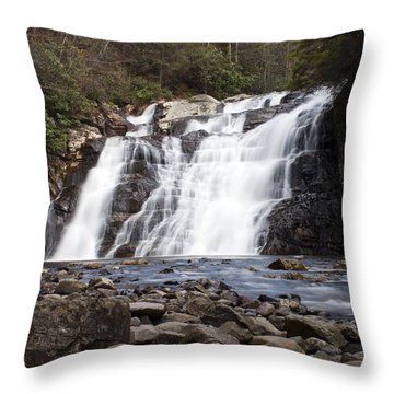 Throw Pillow featuring the photograph Laurel Falls In Spring #1 by Jeff Severson