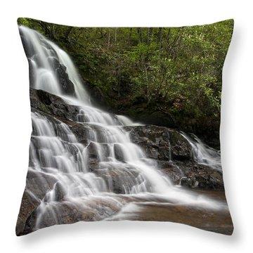 Throw Pillow featuring the photograph Laurel Falls by Ken Barrett