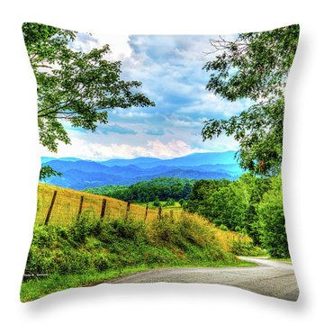 Laurel Hill View Throw Pillow by Dale R Carlson