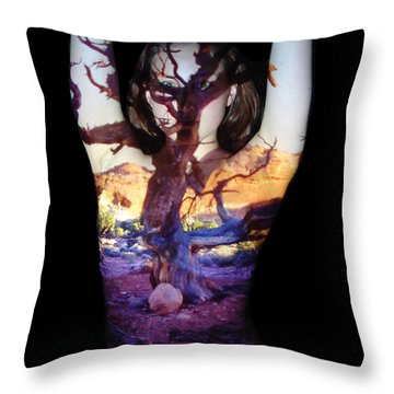 Lauren Throw Pillow by Arla Patch