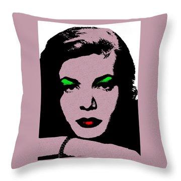 Lauren Bacall Throw Pillow