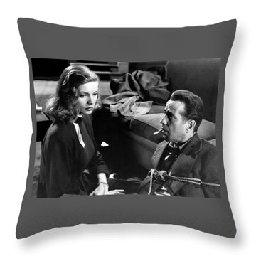 Lauren Bacall Humphrey Bogart Film Noir Classic The Big Sleep 1 1945-2015 Throw Pillow